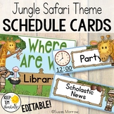 Jungle Theme Schedule Cards - Editable! Jungle Themed Clas