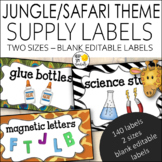Jungle Theme Supply Labels Editable! - Jungle Theme Classroom Decor
