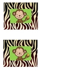 Jungle Safari Theme Tags For Classroom or Library Book Boxes