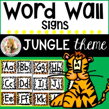 Jungle / Safari Theme Word Wall Headers