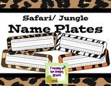 Jungle/ Safari Themed Animal Print Name Plates (Editable)