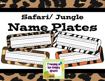 Jungle/ Safari Themed Animal Print Name Plates (Editable)