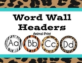 Jungle/ Safari Themed Animal Print Word Wall Headers