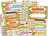 Jungle Safari Themed Classroom Calendar Set