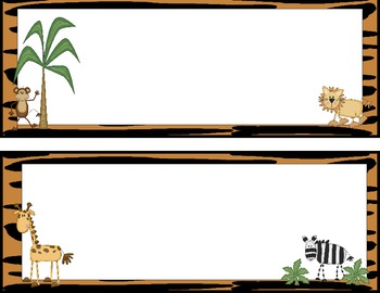 Jungle Safari Themed Name Plates