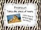 Jungle/Safari Themed Parts of Speech Posters