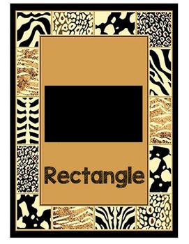 Jungle/Safari Themed Shape Posters