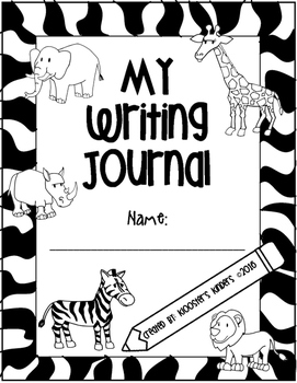 Jungle / Safari Themed Writing Journal with Prompts