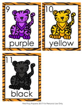 Jungle Safari Tiger Colors Write the Room