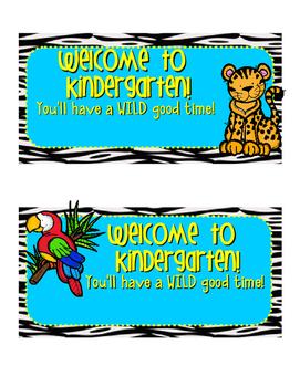 Jungle/Safari Treat Toppers