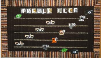 Jungle Safari Treble Clef Bulletin Board Music Classroom Decoration