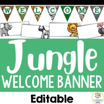Jungle Safari Theme: Welcome Banner (Editable)
