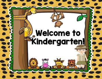 Jungle Safari Welcome Posters {Pre-K through 8th Grade}