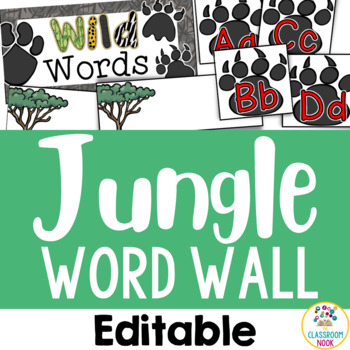 Jungle Safari Theme: Word Wall (Editable)
