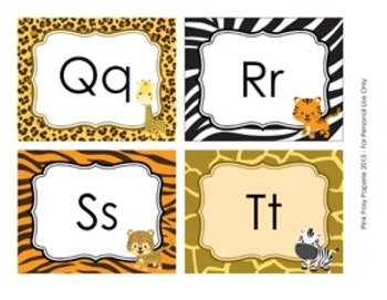 Jungle Safari Word Wall Headers