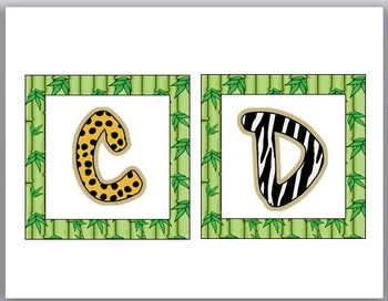 Jungle Safari Theme Classroom Decor Word Wall Headers