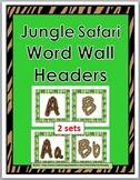 Jungle Safari Theme Classroom Decor Word Wall Letters