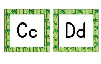 Jungle Safari Theme Classroom Decor Word Wall Headers with Primary Font
