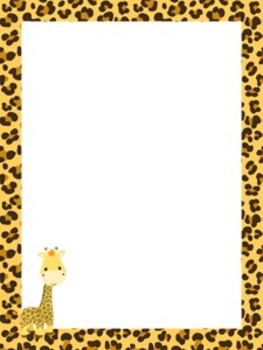 Jungle Safari Writing Paper - 3 Styles - ( 7 1/2 x 10 )