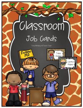 Jungle/Safari/Zoo Classroom Job Cards