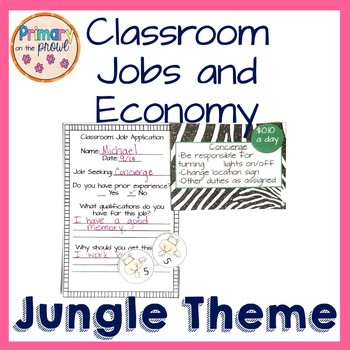 Jungle Safari themed class jobs and Economy