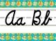 Jungle Safari themed cursive Alphabet Strip