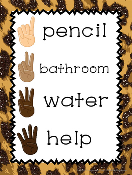 Nonverbal communication poster- jungle themed