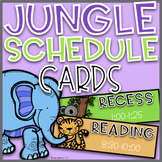 Jungle Schedule Cards~ EDITABLE
