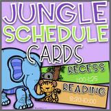 Jungle Schedule Cards~ EDITABLE