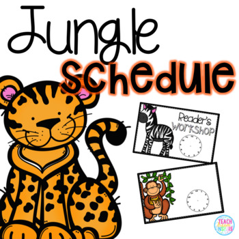 Jungle Schedule Cards (Editable)
