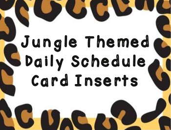 Jungle Schedule Cards/Inserts