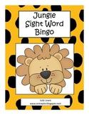 Jungle Sight Word Bingo
