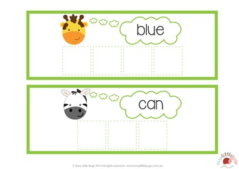 Jungle Sight Word Jumble Pre-Primer