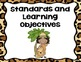 Jungle Standards and Objectives Posters
