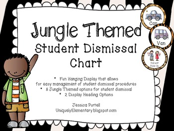 Jungle Student Dismissal Chart (How We Go Home)