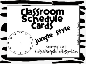 Jungle Style Classroom Schedule Cards