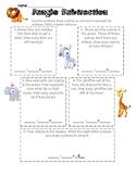 Jungle Subtraction Word Problems (Version 2) 1.OA.1 & 1.OA.4