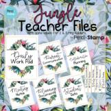 Jungle Teacher File Covers