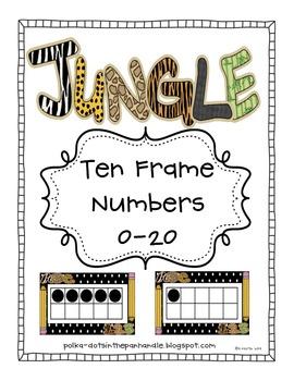 Jungle Ten Frames