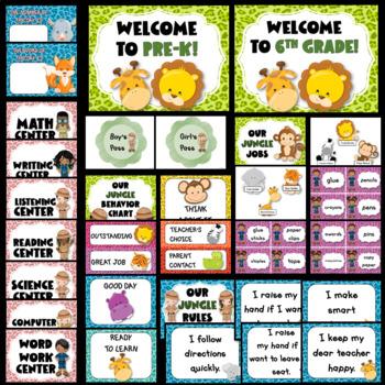 Jungle Theme Classroom Decor EDITABLE (Jungle Classroom Decor)