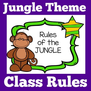 Jungle Theme | Jungle Theme Class Rules | Jungle Themed Classroom