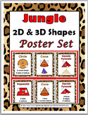 Jungle Theme Classroom Decor 2D Shapes & 3D Shapes Posters