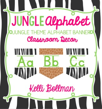 Jungle Theme Alphabet Banner {Classroom Decor}