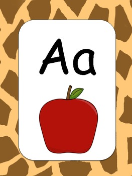 Jungle Theme Alphabet Cards with picture
