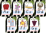 Jungle Theme Alphabet Chart QLD Font