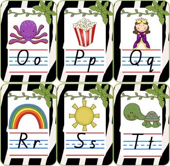 Jungle Theme Alphabet Chart QLD Font