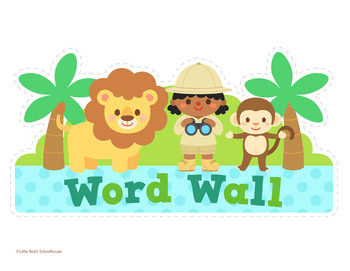 Alphabet Posters and ABC Word Wall Cards - Safari Theme