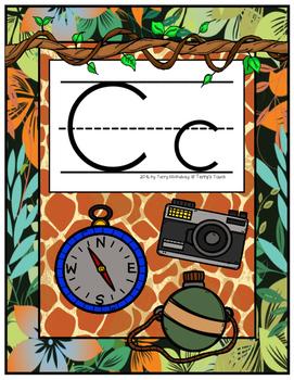 Jungle/Safari/Zoo Theme Alphabet Posters