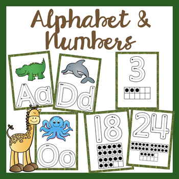 Jungle Theme Alphabet and Numbers