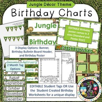 Jungle Theme Birthday Decor Set